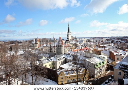 Tallinn city. Estonia - stock photo