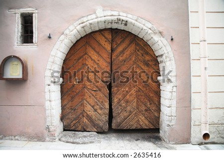 Tallinn Estonia Door - stock photo