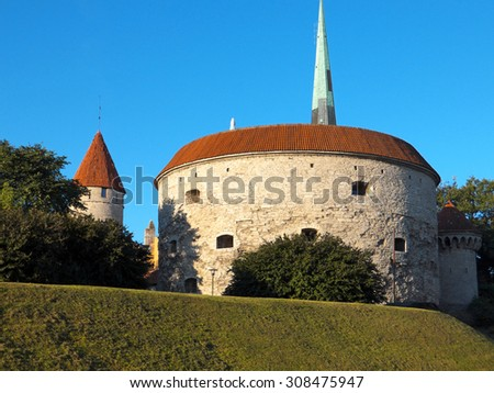 TALLINN, ESTONIA - Part of Old Town Architecture - stock photo