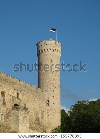 Tallinn medieval tower - stock photo