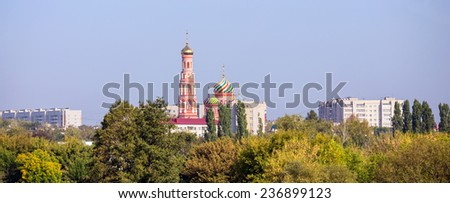 Tambov city. Cathedral of the Ascension in Ascension Monastery - stock photo