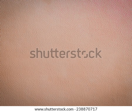 Tan leather texture background - stock photo