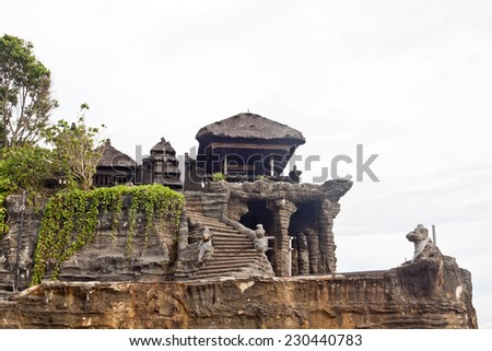 Tanah Lot temple (Bali island, Indonesia) - stock photo