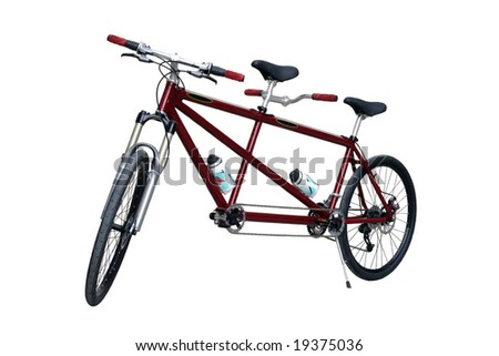 tandem bike - stock photo