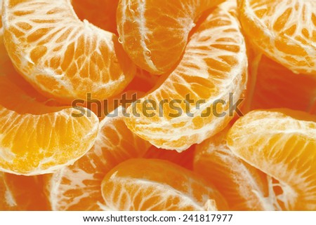 Tangerine, mandarin, clementine or orange fruit background texture  - stock photo