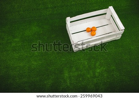 tangerines in the box - stock photo