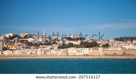 Tangier port panorama, Morocco, Africa - stock photo