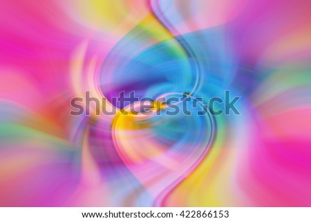 Tangled hearts with bright vivid rainbow color abstract background, beautiful colorful abstract background - stock photo