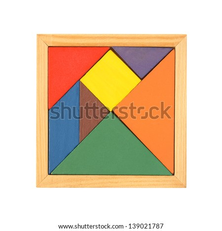 Tangram isolated on a white background - stock photo