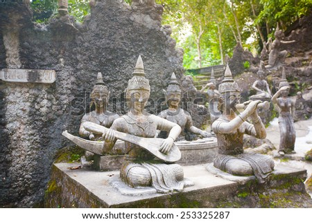 Tanim magic Buddha garden, Koh Samui island, Thailand - stock photo