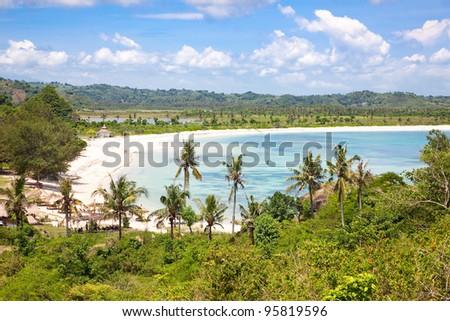 Tanjung Aan beach, Lombok, Indonesia - stock photo