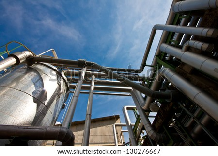 tank chemical in plant - stock photo