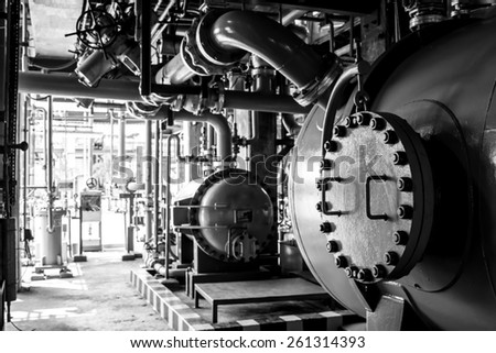 tank the liquid from the tank reactor. - stock photo