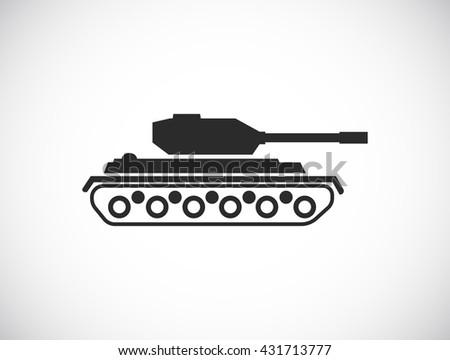 tank web icon - stock photo