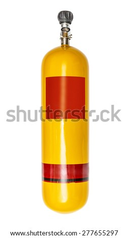 Tank with compressed air  isolated on the white - stock photo