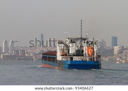 Tanker Ship - stock photo