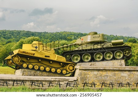Tanks of Second World War - stock photo