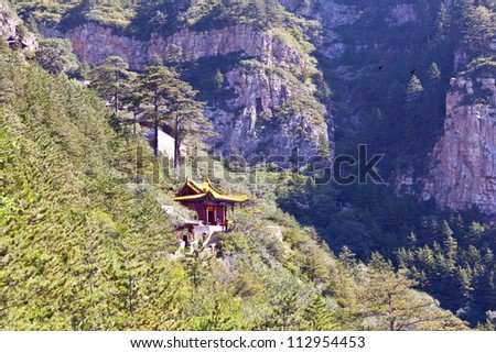 Taoist Temple In The Mountain Hengshan Northern Great