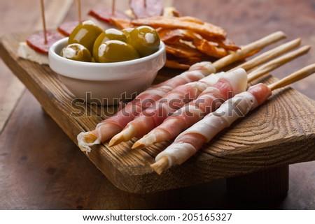 tapas platter - stock photo