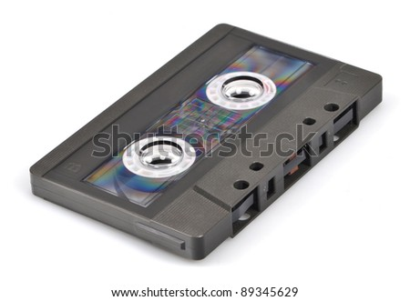 tape cassette - isolated on white background - stock photo