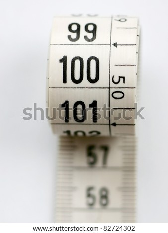 tape measure hundred - stock photo