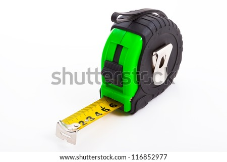 Tape measure, Isolated on white background. - stock photo