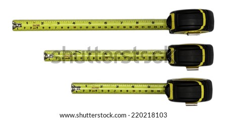 tape measure isolated on white background - stock photo