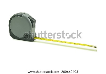 Tape measure meters  on white background - stock photo