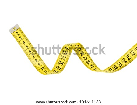 Tape Measure With CLIPPING PATH isolated on white. - stock photo