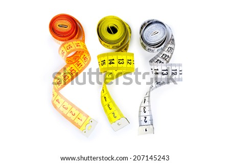 tape measuring - stock photo