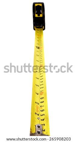 Tape meter over white - stock photo