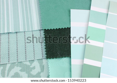tapestry and upholstery color selection - stock photo
