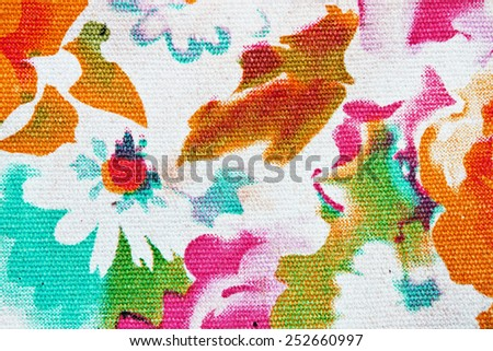 tapestry textile pattern with floral ornament useful as background - stock photo