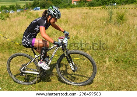 TAPIA, ROMANIA - JUNE 14: mountain bike rider in action during the Concordia Cup, 