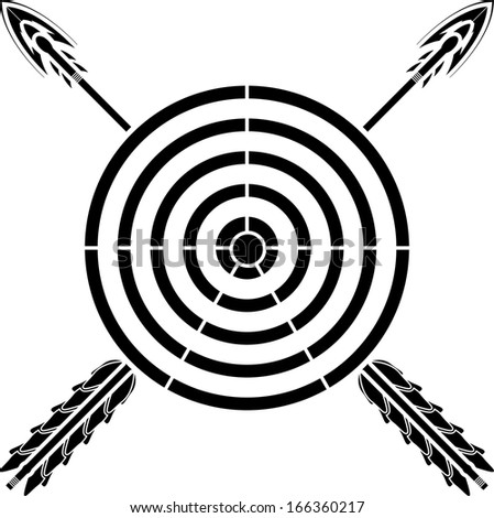 target and arrows. raster variant - stock photo