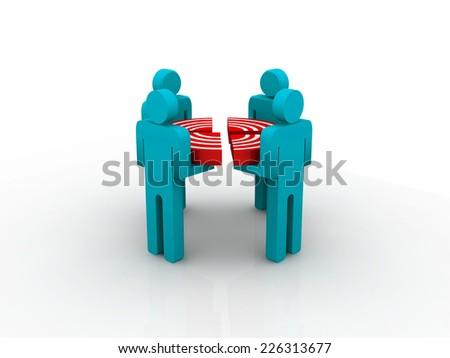 Target Audience  - stock photo