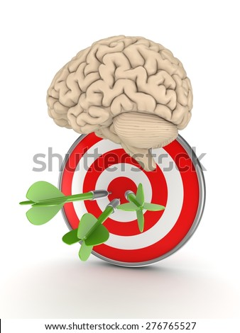 Target audience concept. Isolated on white background 3d rendered illustration. - stock photo