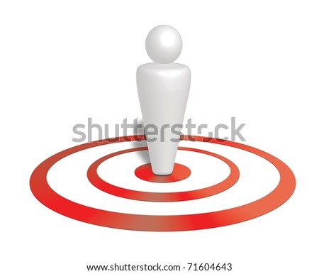 Target Customer, targeting concept Illustration - stock photo