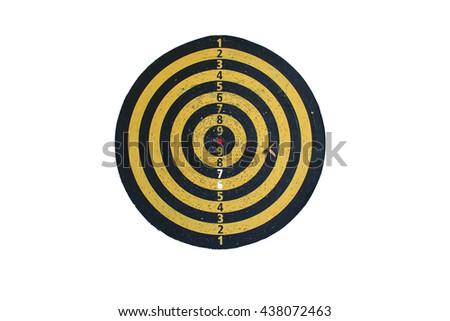 Target dart isolate - stock photo