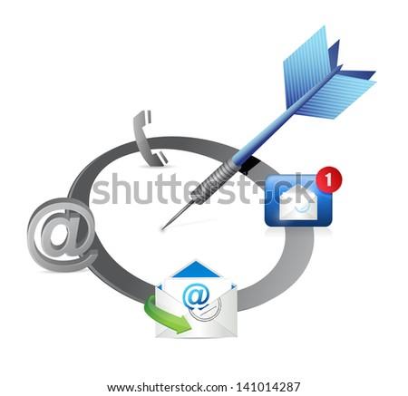 target good communication concept illustration design over white - stock photo
