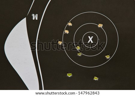 target gun - stock photo