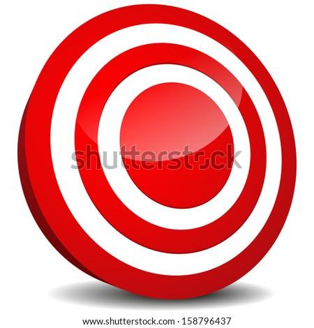 Target Icon. Aim, precision, luck, bulls eye, target practicing, targeting (market, marketing), goal, goal setting design element, icon. - stock photo