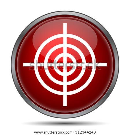 Target icon. Internet button on white background.  - stock photo