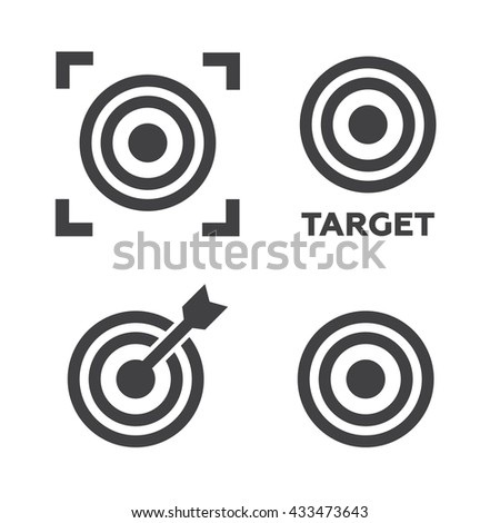 Target icons set illustration. Target black logo. Target icons sign  - stock photo