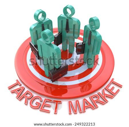Target market. marketing concept  - stock photo