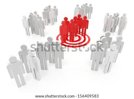 Target market on the white background - stock photo