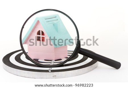 Target Mortgage: Hit the targeted marketing and aim for customers. - stock photo