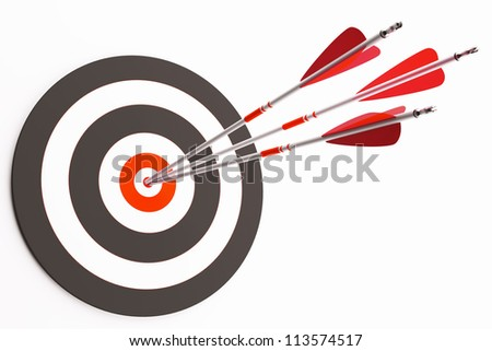 Target with arrows - stock photo
