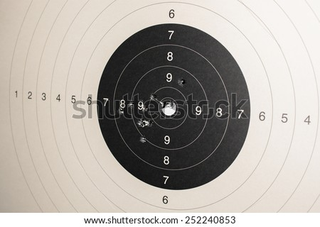 Target With Hits - stock photo