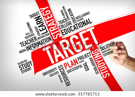 TARGET word cloud, education concept - stock photo